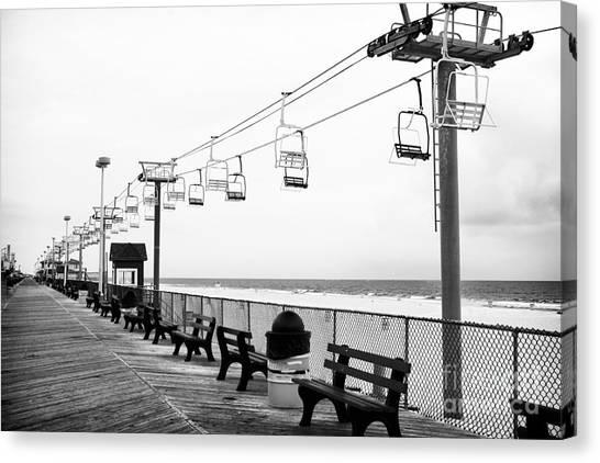 Seaside Heights Canvas Print - Boardwalk Ride by John Rizzuto