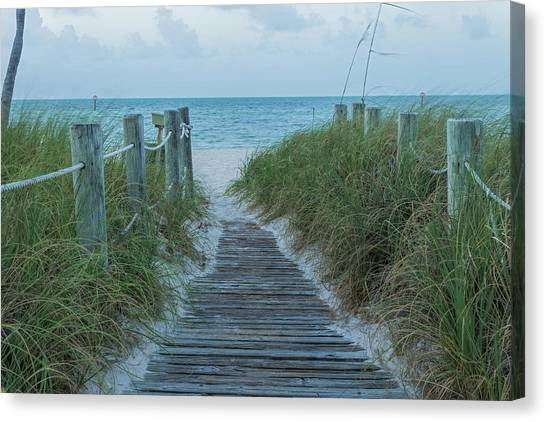 Canvas Print featuring the photograph Boardwalk To The Beach by Kim Hojnacki