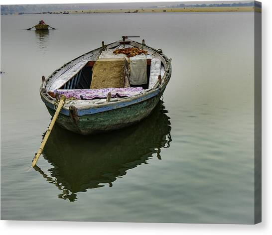 boat at Ganges Canvas Print