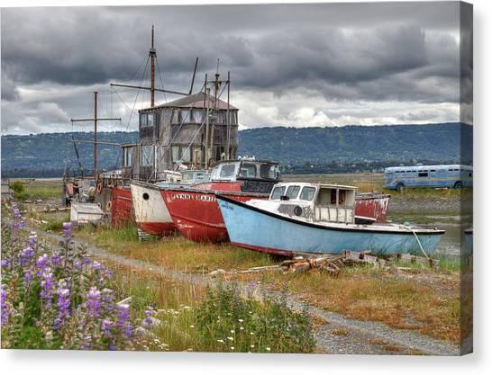 Boat Graveyard Canvas Print