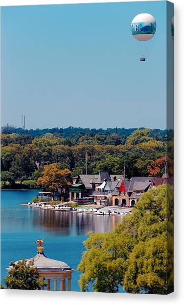 Boat House Row Canvas Print