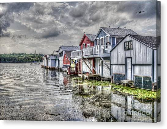 Boat Houses In The Finger Lakes Canvas Print