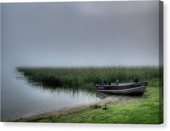 Boat In The Fog Canvas Print
