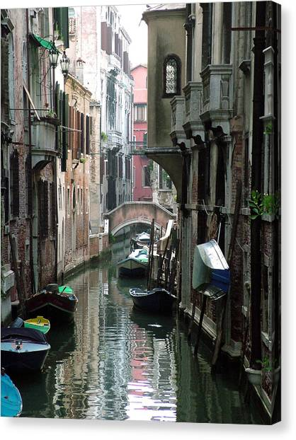 Boat On The Wall Canvas Print