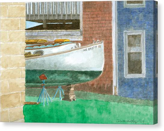 Boat Out Of Water - Portland Maine Canvas Print