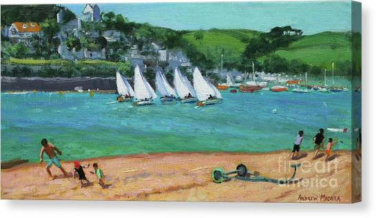 Ham Canvas Print - Boat Race Salcombe by Andrew Macara