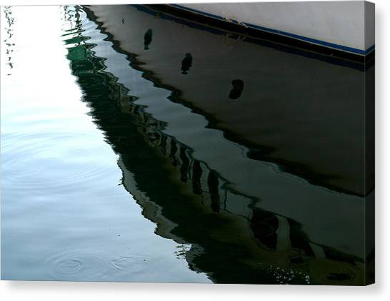 Boat  Reflection - Image 2 - Ver. 2 Canvas Print