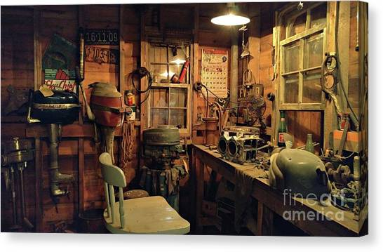 Boat Repair Shop Canvas Print