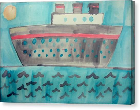 Boat Canvas Print by Sean Cusack