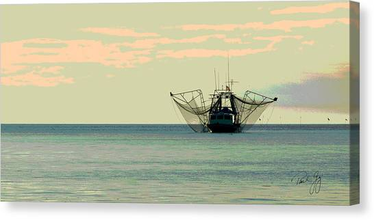 Boat Series 30 Shrimp Boat Gulf Of Mexico Louisiana Canvas Print