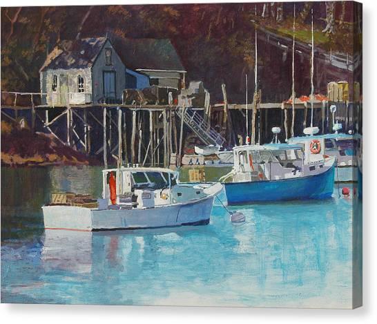Boat Shack Canvas Print by Robert Bissett