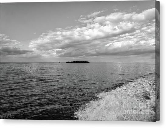 Boat Wake On Florida Bay Canvas Print
