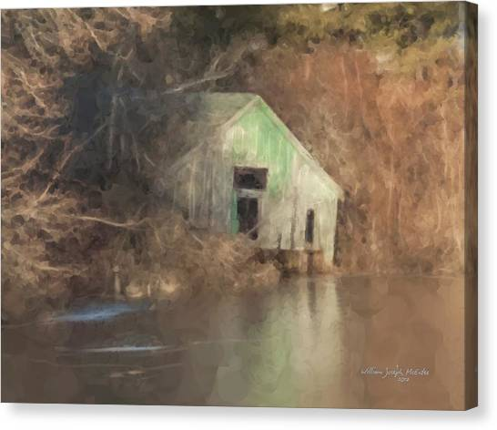 Boathouse On Solstice Canvas Print