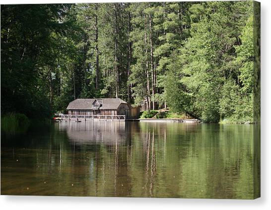 Boathouse On The Brule Canvas Print