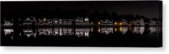 Boathouse Row Panorama - Philadelphia Canvas Print