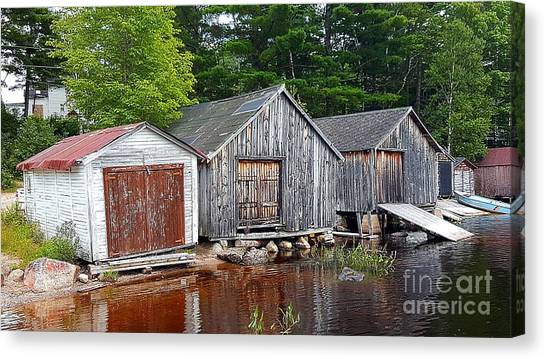 Boathouses - Mcadam Nb Canvas Print