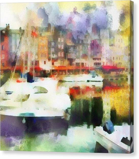 Impressionism Canvas Print - Boating In Honfleur by Susan Libby