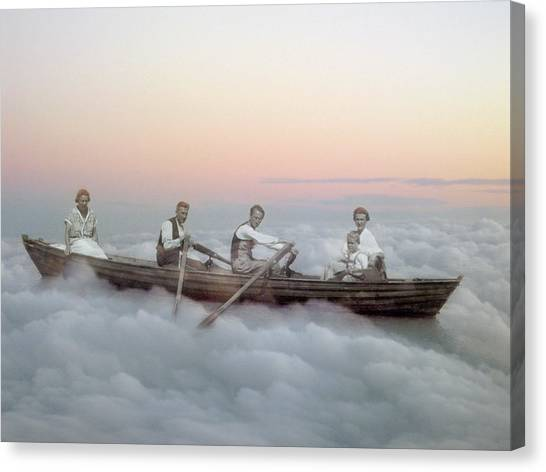 Boating On Clouds Canvas Print by Martina Rall