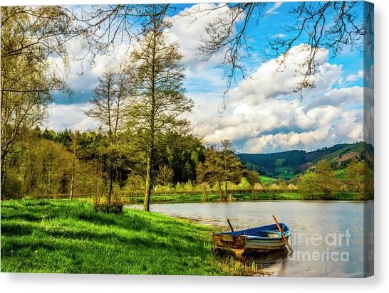 Boating On Golden Pond 254  Canvas Print