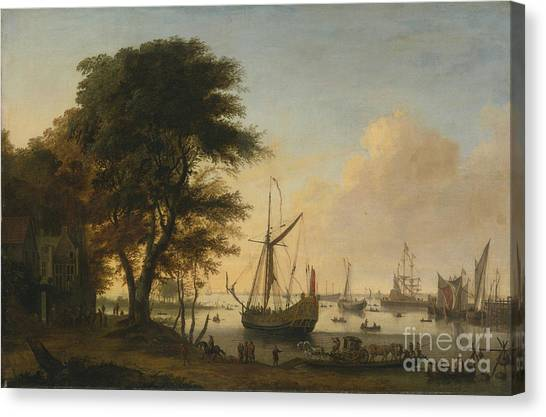 Wyck Canvas Print - Boating Scene With A Royal by MotionAge Designs