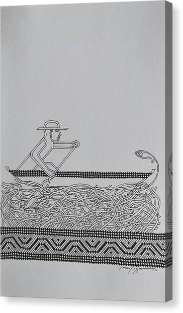 Boatman Canvas Print by Raul Agner