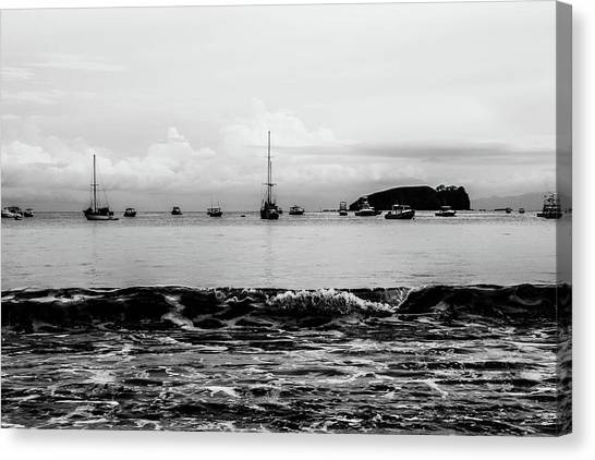 Boats And Waves 2 Canvas Print
