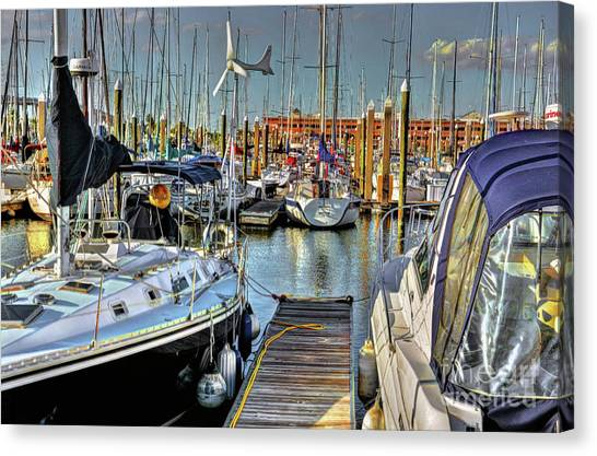 Boats At Kemah Canvas Print