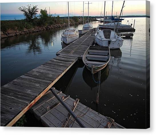 Oklahoma State University Canvas Print - Boats At Rest by Buck Buchanan