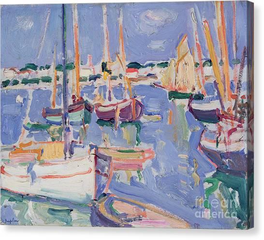 John Boats Canvas Print - Boats At Royan by Samuel John Peploe