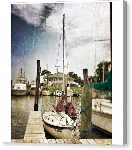 Harbors Canvas Print - Boats At The Harbor #harbor #boats by Joan McCool