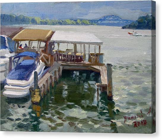 North Shore Canvas Print - Boats At The Shores by Ylli Haruni