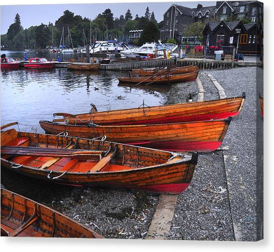 Boats At Windermere Canvas Print
