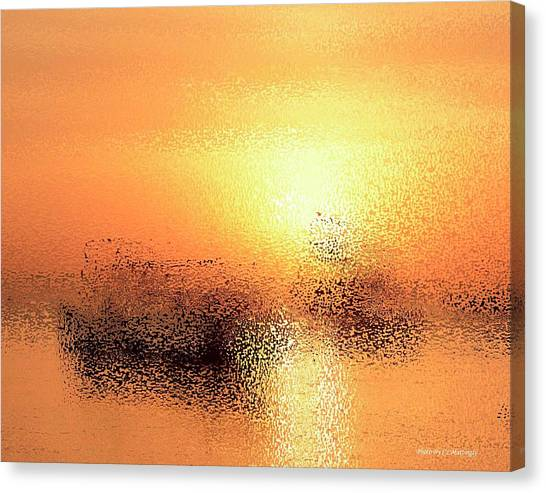 Boats In Gold Canvas Print