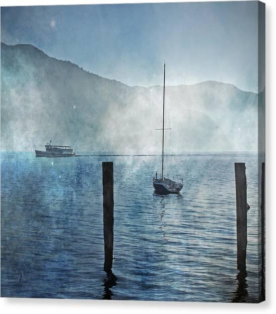 Sailing Canvas Print - Boats In The Fog by Joana Kruse