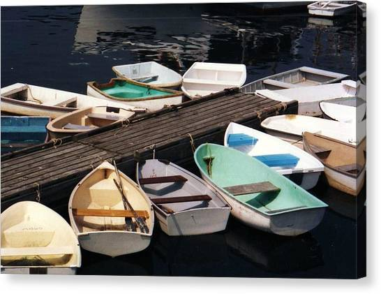 Boats In Waiting Canvas Print