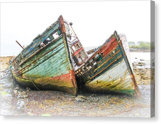 Boats Isle Of Mull 4 Canvas Print