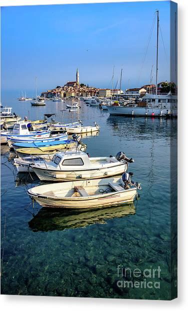 Boats Of The Adriatic, Rovinj, Istria, Croatia  Canvas Print