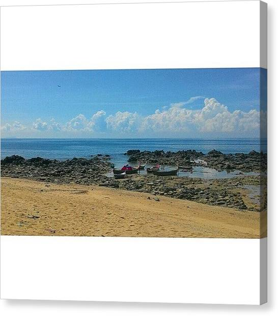 Seascapes Canvas Print - Boats On The Beach by Georgia Fowler