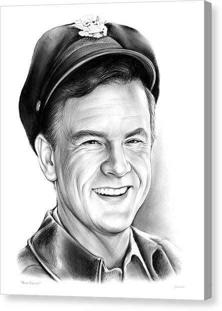 Cranes Canvas Print - Bob Crane by Greg Joens