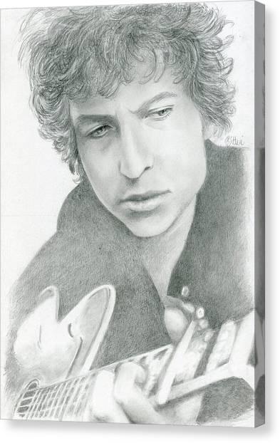 Canvas Print - Bob Dylan by Bitten Kari