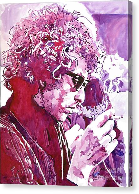 Bob Dylan Canvas Print - Bob Dylan by David Lloyd Glover