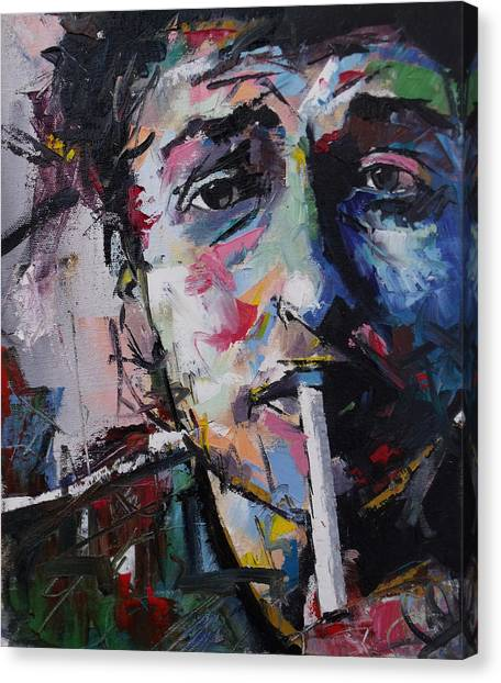 Tambourines Canvas Print - Bob Dylan by Richard Day
