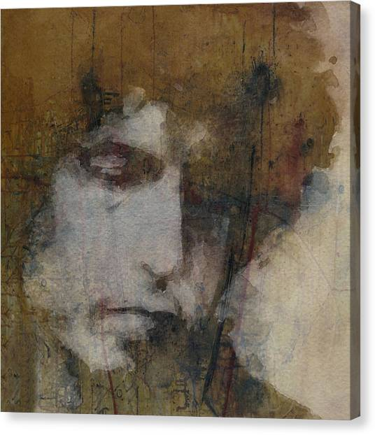 Bob Dylan Canvas Print - Bob Dylan - The Times They Are A Changin' by Paul Lovering