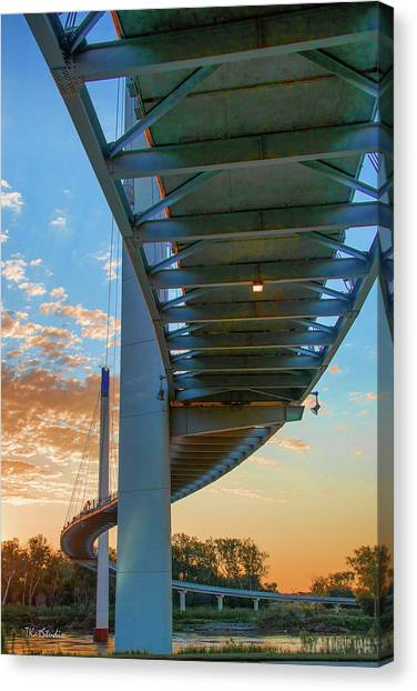 Bob Kerry Bridge At Sunrise-2 Canvas Print