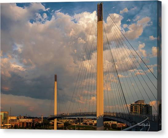 Bob Kerry Bridge At Sunrise-3 Canvas Print