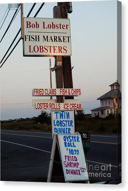 Bob Lobster Fish Market Canvas Print