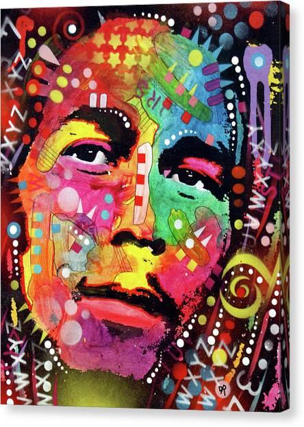 Bob Marley Canvas Print - Bob Marley by Dean Russo Art