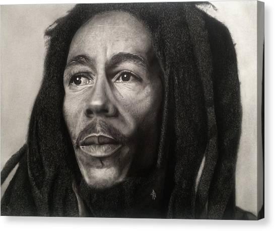 Bob Marley Drawing Canvas Print