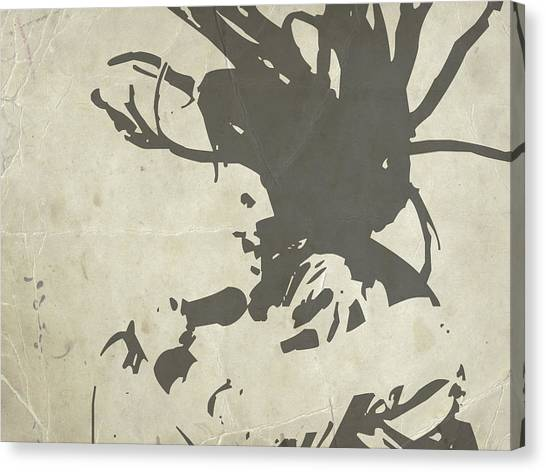 Celebrity Canvas Print - Bob Marley Grey by Naxart Studio