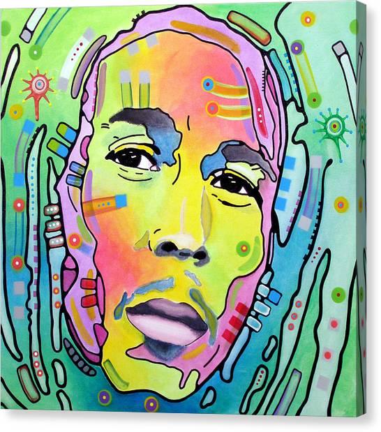 Bob Marley Canvas Print - Bob Marley I by Dean Russo Art